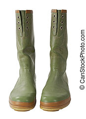 Galoshes with clipping path - Isolated galoshes pair with...