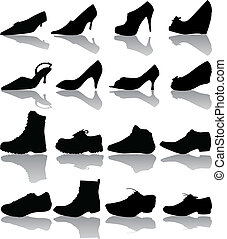 Vector boots (man , women) - Vector boots (man , women)...