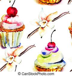 acuarela, pastel, Ilustración