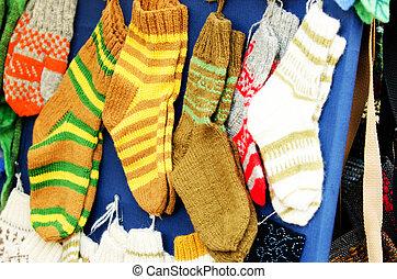 woollen sox - Traditional woollen sox in the handicraft mart