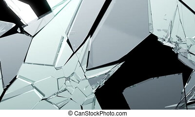 Cracked and Shattered glass slowmo - Cracked and Shattered...