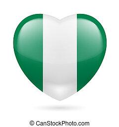 Heart icon of Nigeria