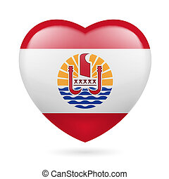 Heart icon of French Polynesia - I love French Polynesia....
