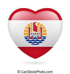 Heart icon of French Polynesia - I love French Polynesia....