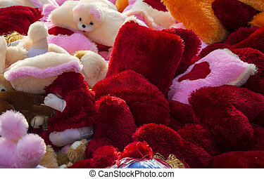 Soft toys on sale - Soft toys in sale and on display.