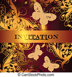 Beautiful invitation design in ele - Elegant classic wedding...