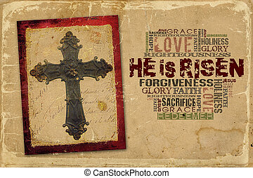 He is Risen - Easter Religious Background