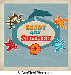 Vintage Summer greeting card