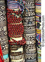Various pieces of bracelets