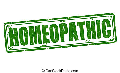 Homeopathic stamp - Homeopathic grunge rubber stamp on...