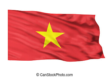 Vietnam Flag. - Vietnam flag waving in the high wind.