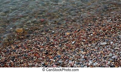 Pebble Beach Surf Loop - Rounded pebbles and small rocks...