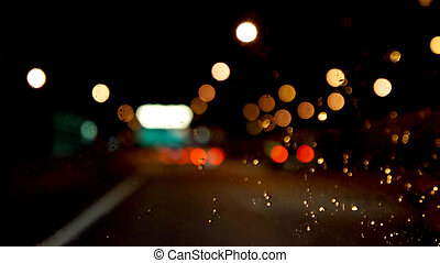Evening traffic The city lights Motion blur Abstract...