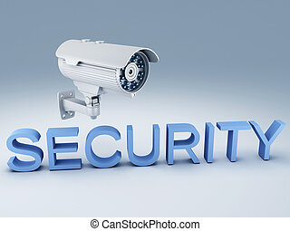 Security camera - image of Security camera surveillance 3d...