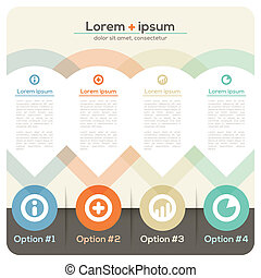 Four Columns Abstract Design Layout for Presentation /...