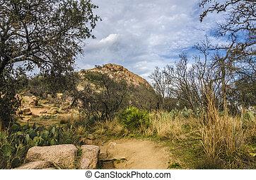 Enchanted Rock Texas - 13020 years ago (in 2011) on Midgard-...