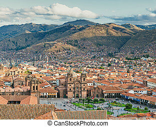 City of Cuzco in Peru, South America