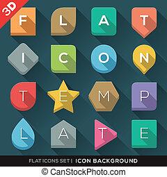 Geometric Shapes background for Flat Icons Set - Set of...