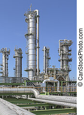Oil and chemical refinery factory - Oil and chemical plant...