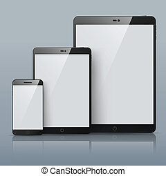 Set of Vector Smart phone and Tablet