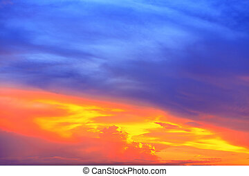 Colorful of sky