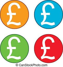 Pound symbol buttons set on white background.