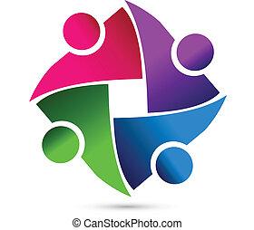Teamwork business people logo - Teamwork shutter speed...