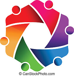 Teamwork business people logo - Teamwork shutter speed...