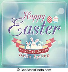 Easter card design