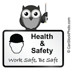 Health and Safety - Monochrome comical health and safety...
