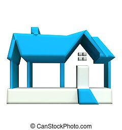 Real estate house 3d image
