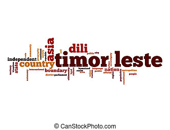 Timor-Leste word cloud