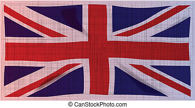Grunge Union Jack Flag - The heavy gtunge style British...