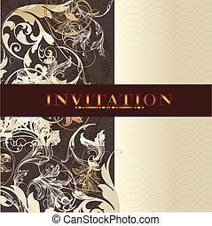 Beautiful wedding invitation desig - Elegant classic wedding...