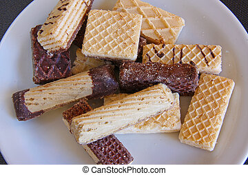 Fancy wafers - Assorted sweet wafer cookies biscuits, fancy...