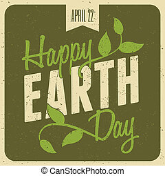 Earth Day Poster - Typographic design poster for Earth Day