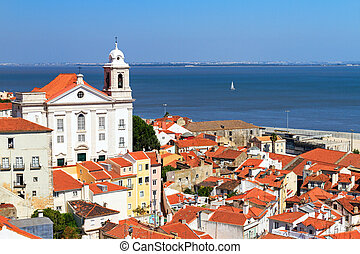 Tagus cityscape - Beautiful colorful and vibrant summer...