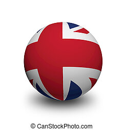 3D Ball with Flag of United Kingdom