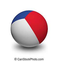 3D Ball with Flag of France