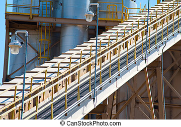 Large scale industrial equipment at a factory.