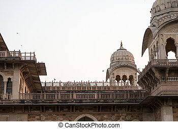 Canopies on Albert hall jaipur - Indo-Saracenic architecture...