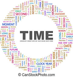 TIME Background concept wordcloud illustration Print concept...