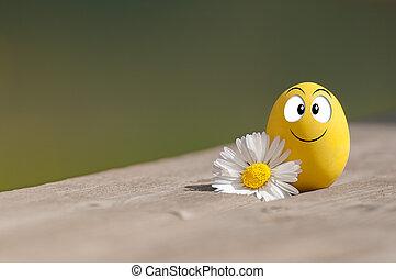 Funny egg for Easter