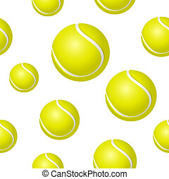Tennis ball background - Seamless background design with...