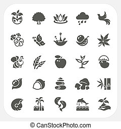 Nature icons set
