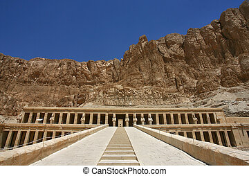 Mortuary Temple of Hatshepsut, near the Valley of the Kings,...