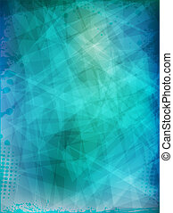 Abstract futuristic background with grunge frame