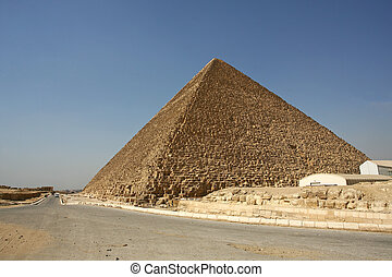 Egypt. Cairo - Giza. General view of pyramids from the Giza