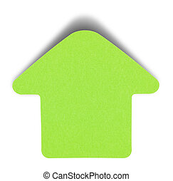 Geen sticky note isolated - Green sticky note isolated on...
