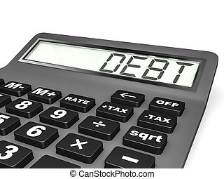 Calculator with DEPT on display. - Calculator with DEPT on...